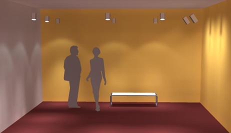 rendering-proyecto-iluminacion.... Rendering procesado en 3D. Simulación iluminación local exposición arte.