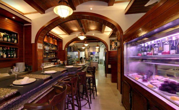 iluminacion carballeira barcelona, interior restaurante